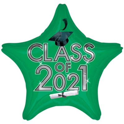 Star Class of 2015 Green Graduation Balloon