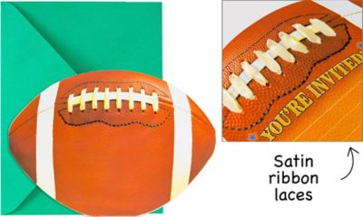 Football Jumbo Invitations 8ct