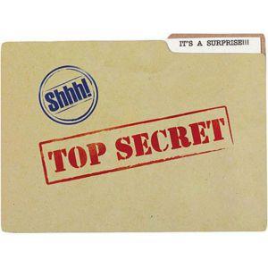 Top Secret Jumbo Invitations 8ct