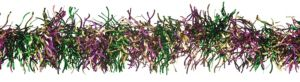 Mardi Gras Curved Tinsel Garland