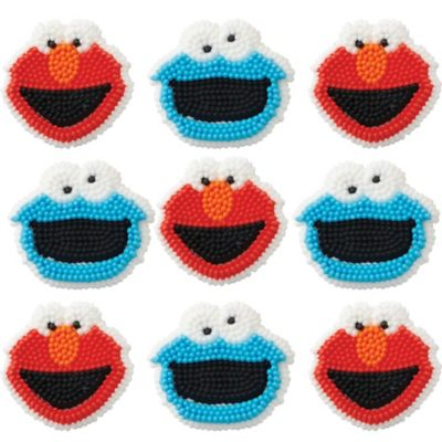 Elmo Icing Decorations 9ct
