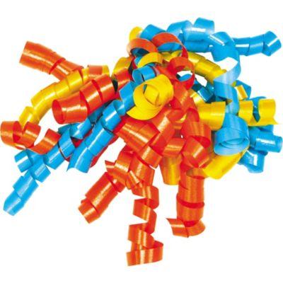 Aqua/Orange/Daffodil Curly Bow