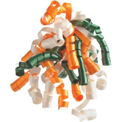 Orange/Ivory/Spruce Curly Bow