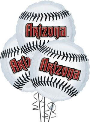 Arizona Diamondbacks Balloons 3ct - Baseball