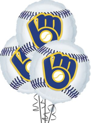 Milwaukee Brewers Balloons 18in 3ct