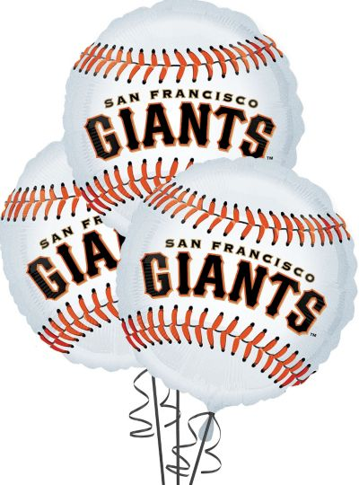 San Francisco Giants Balloons 18in 3ct