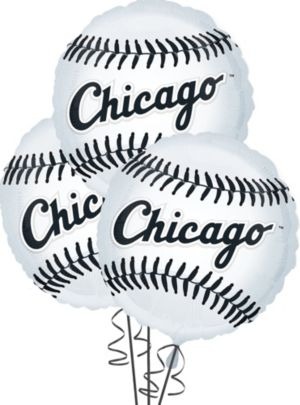 Chicago White Sox Balloons 3ct - Baseball