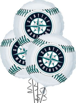 Seattle Mariners Balloons 3ct - Baseball