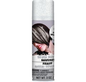 Glitter Silver Hair Spray
