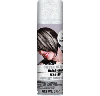Silver Glitter Hair Spray 3oz