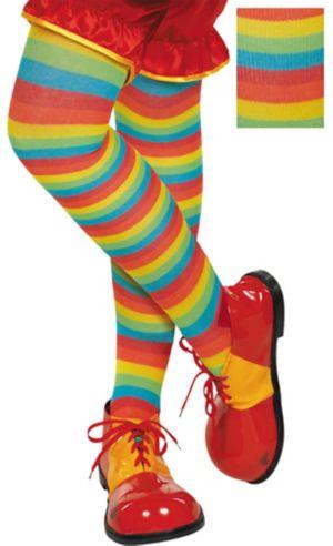 Rainbow Striped Tights