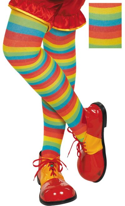 Rainbow Striped Tights