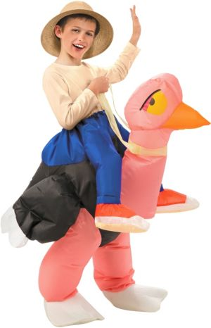 Boys Inflatable Illusion Ostrich Ride On Costume