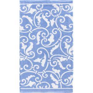 Pastel Blue Ornamental Scroll Guest Towels 16ct