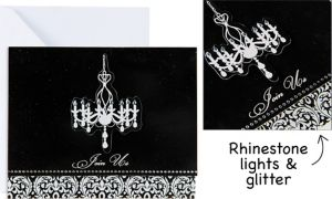 Elegant Chandelier Large Invitations 8ct