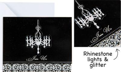 Elegant Chandelier Large Invitations 8ct