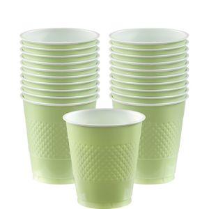 Leaf Green Plastic Cups 20ct