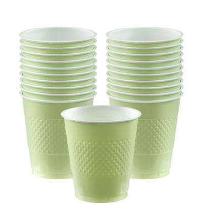 Leaf Green Plastic Cups 20ct