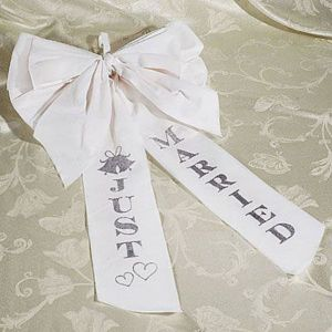 Just Married Wedding Car Bow