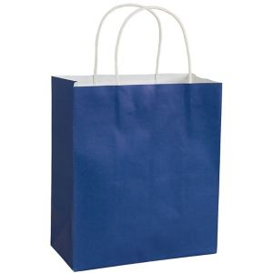 Large Royal Blue Kraft Gift Bag