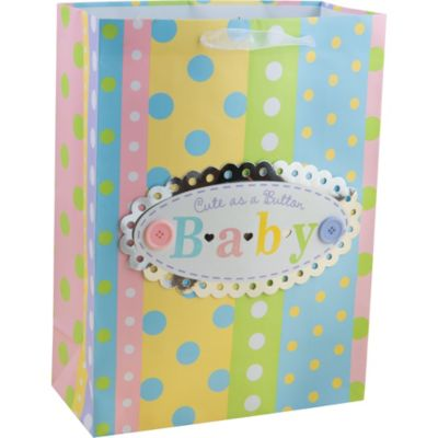 3D Stripes and Dots Baby Gift Bag