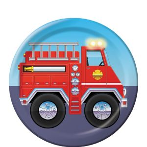 Firefighter Dessert Plates 8ct