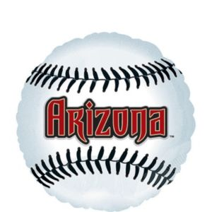 Arizona Diamondbacks Baseball Balloon 18in