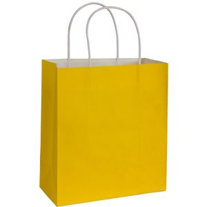 Large Yellow Kraft Gift Bag