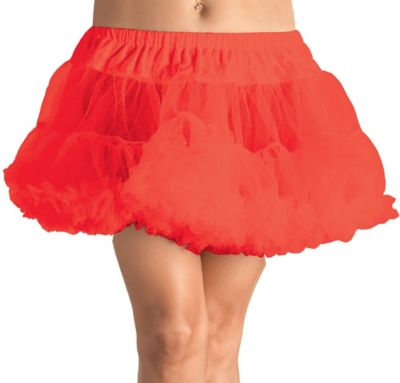 Adult Red Crinoline Petticoat Plus Size