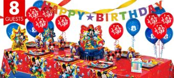 Mickey Mouse Super Party Kit for 8 Guests