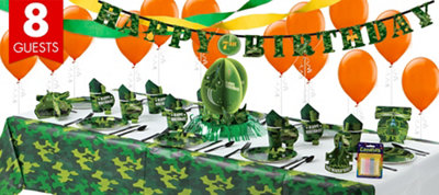 Camouflage Super Party Kit for 8 Guests