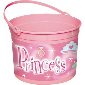 Plastic Princess Easter Bucket