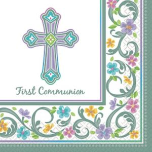Blessed Day Communion Lunch Napkins 36ct
