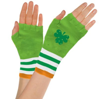St. Patrick's Day Fingerless Glovelettes