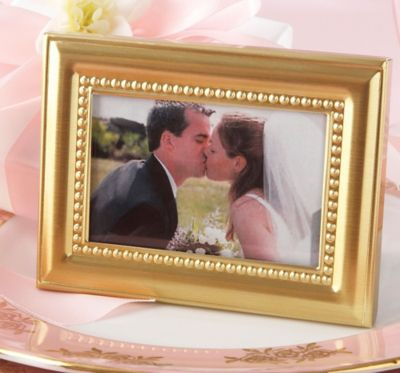 Beautifully Beaded Gold Photo Frame & Place Card Holder