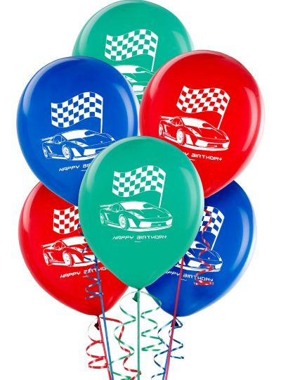 Happy Birthday Hot Wheels Balloons 6ct