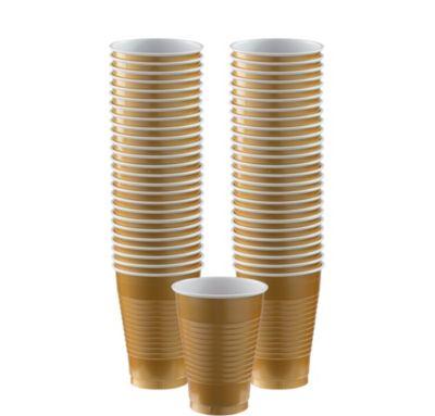 BOGO Gold Plastic Cups 12oz 50ct