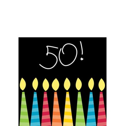 Great 50th Birthday Beverage Napkins 16ct