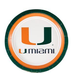 Miami Hurricanes Dessert Plates 12ct