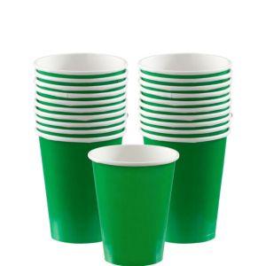 Festive Green Paper Cups 20ct