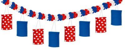 Patriotic Paper Lantern Garland