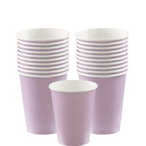 Lavender Paper Cups 20ct