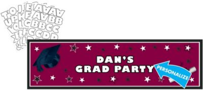 Berry Personalized Graduation Banner