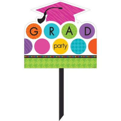 Colorful Commencement Graduation Yard Sign