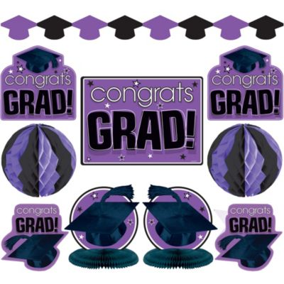 Purple Graduation Decorating Kit 10pc