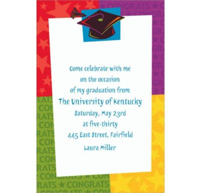 Way to Go Grad Custom Graduation Invitation
