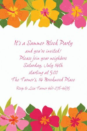 Custom Floral Paradise Warm Invitations