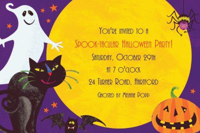Custom Gruesome Group Halloween Invitations