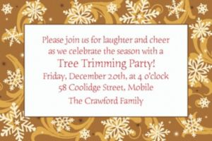 Custom Elegant Gold Christmas Invitations