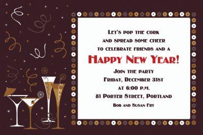 custom lets toast new years invitations party city